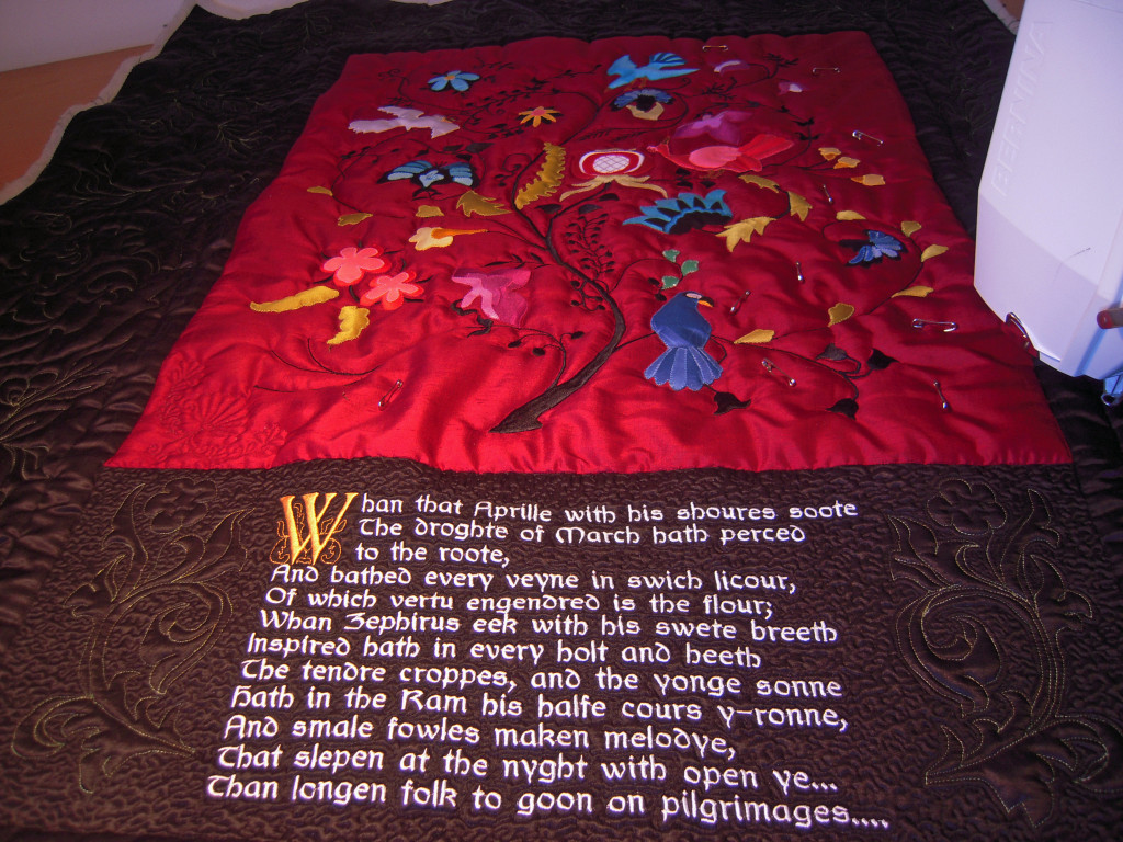 Across the quilt
