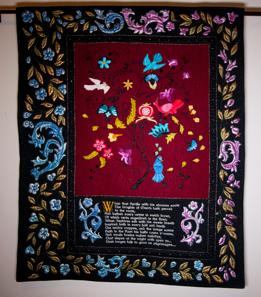 Canterbury Silk.  This quilt has been juried in to MQX Midwest and will be debuted there this year.