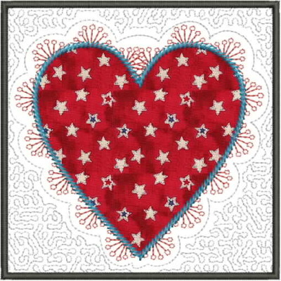 "5"" x 5"" fabric greeting card or mug rug"