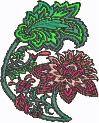 The result of today's little digitizing practice in Bernina v7 embroidery software.