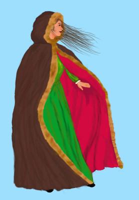 Wind blown woman 2