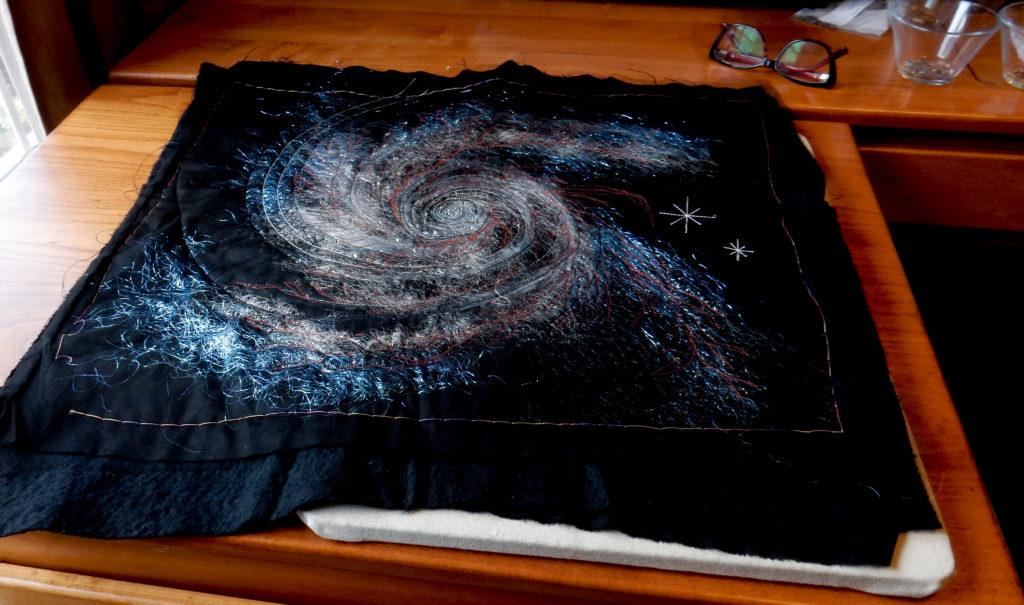 Spiral galaxy study/test piece