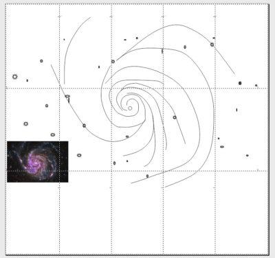 spiral galaxy print tiles pic