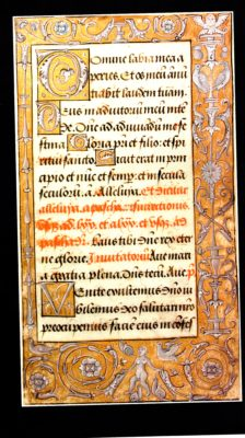 An illuminated page from Book of Hours