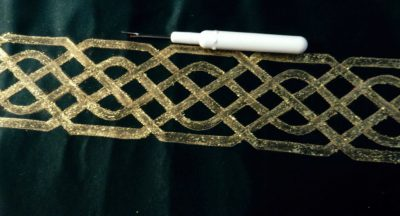 stitched on my 830 with golden threads paper and the straight stitch with #37D foot.