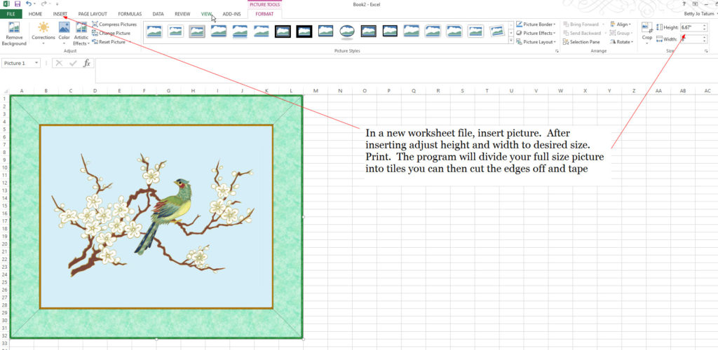 using-excel-for-full-pattern-print